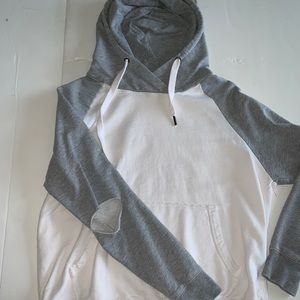 Gray And White Hoodie